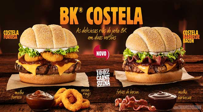 Burger King: novo BK COSTELA