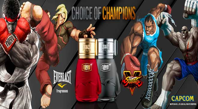 Everlast cria perfumes do Street Fighter