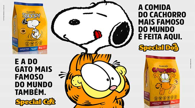 Special Dog: ração do Snoopy e Garfield