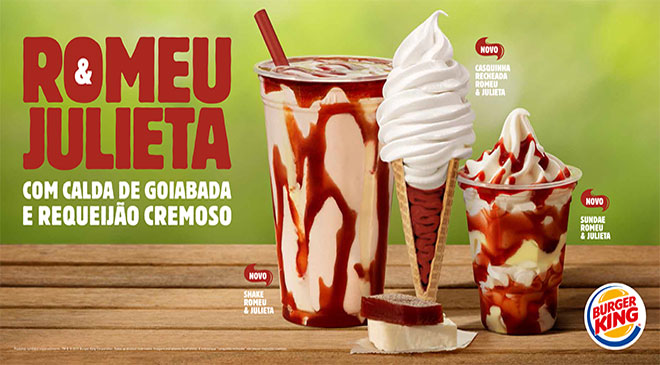 Burger King: sobremesas Romeu & Julieta