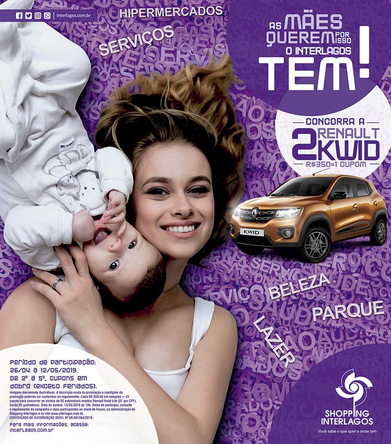 Shopping Interlagos sorteia Renault Kwid