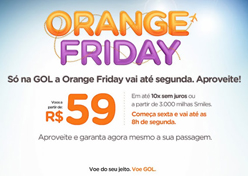 Gol cria Orange Friday