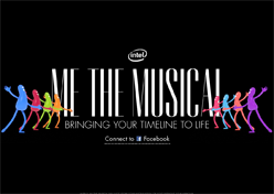 Intel transforma timeline do Facebook em musical