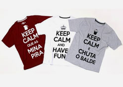 Renner cria camisetas ?Keep Calm and...?