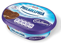 Kraft lança cream cheese de chocolate