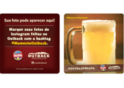Outback usa fotos do Instagram nas bolachas