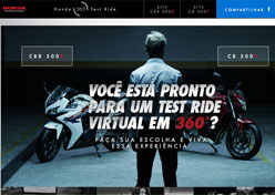 Honda cria test ride virtual para consumidores