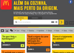 McDonald's cria site sobre ingredientes