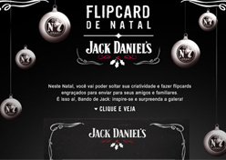 Jack Daniel's cria flipcard virtual no Facebook