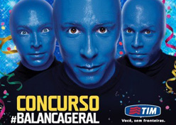 Tim leva cliente ao Carnaval com Blue Man Group
