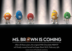 M&M's lança a sexta mascote da marca no Super Bowl