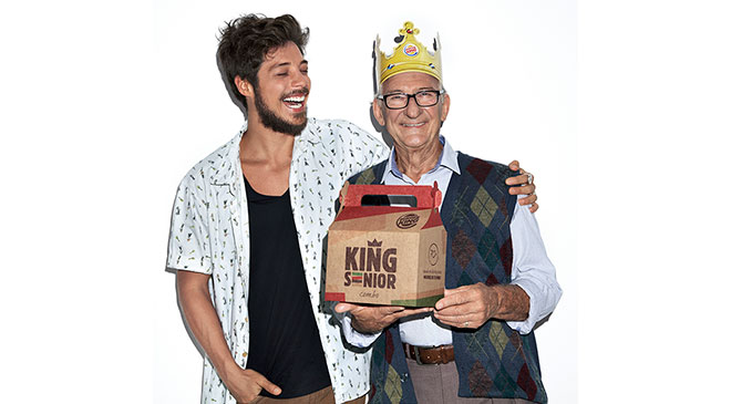 Burger King: combo exclusivo para os 70+