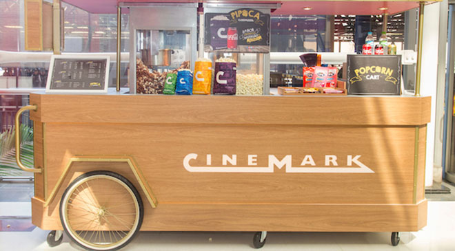 Cinemark leva pipoca para fora do cinema
