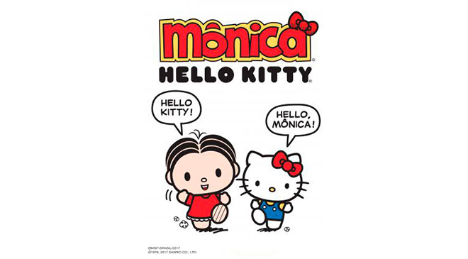 Mônica e Hello Kitty fazem co-brading
