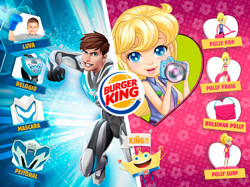 Burger King, Mattel, Polly, Max Steel, King Jr