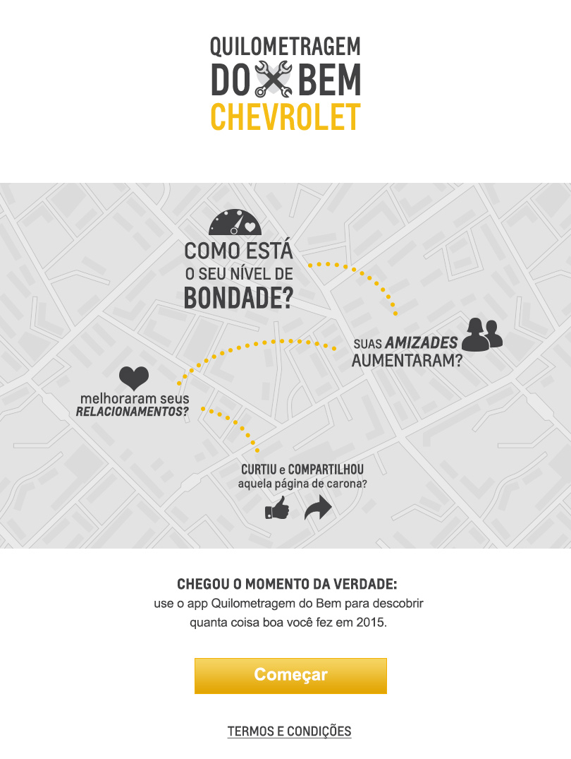 Chevrolet, aplicativo, Facebook