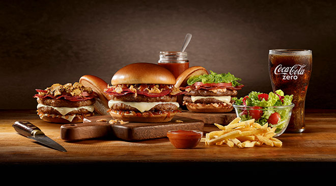 McDonald's, Crispy Onion Barbecue, Linha Signature, Food Service, Sanduíche