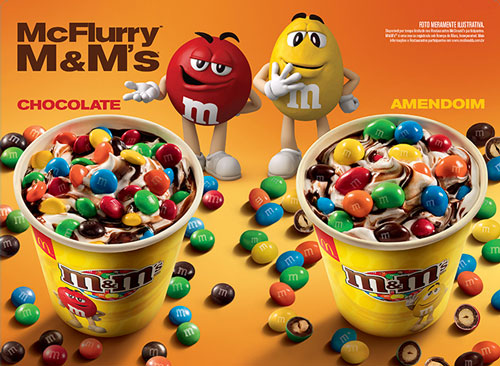 McDonald's, McFlurry, M&M's, sorvete
