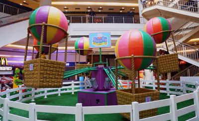 Peppa Pig, Plaza Shopping, Carrossel de Balões