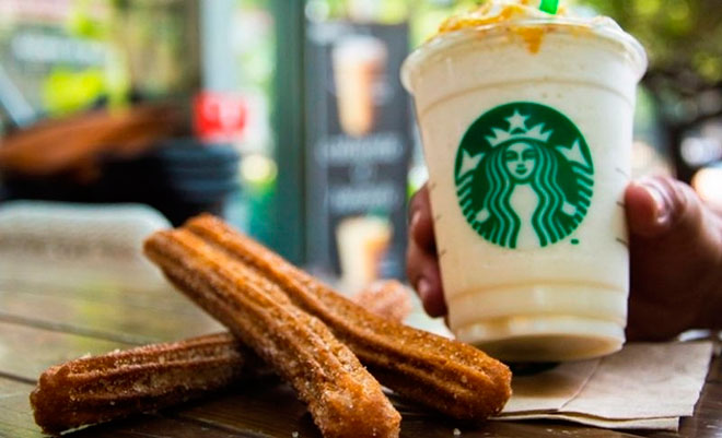 Starbucks, Churros, Café