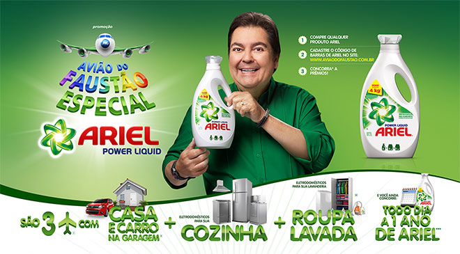 P&G, Ariel Power Liquid, Avião do Faustão