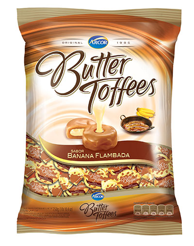 Butter Toffees, Arcor do Brasil, Banana