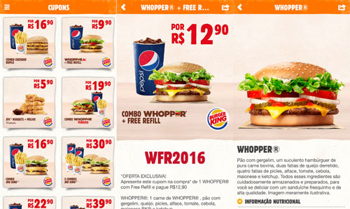 Burger King, Aplicativo, Smartphone