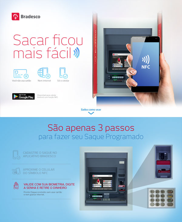Bradesco, NFC, Digital, Banco