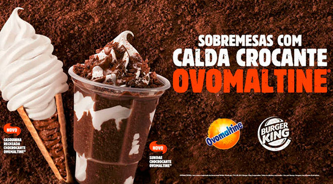 Burger King; Ovomaltine, Sorvete, Co-branding