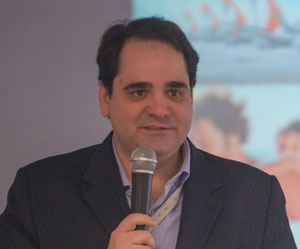 Eduardo Bernardes Neto, Vice-presidente de Vendas e Marketing da Gol, durante o Workshop com a Imprensa