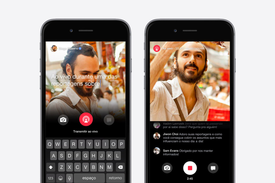 Facebook, Facebook Live, streaming, mentions, periscope