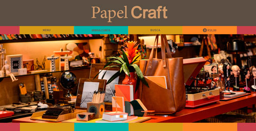 Papel Craft, e-commerce, papelaria