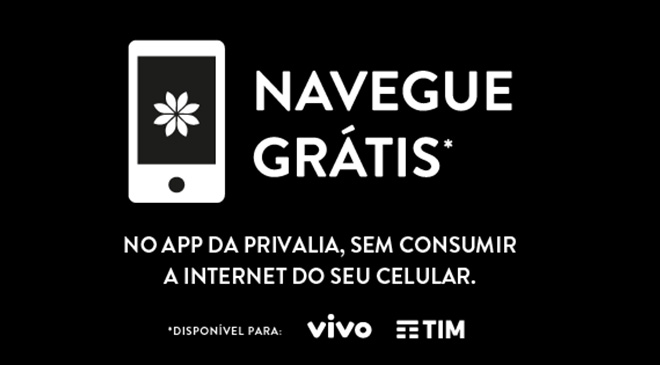Privalia, TIM, Vivo, Mobile, Aplicativo