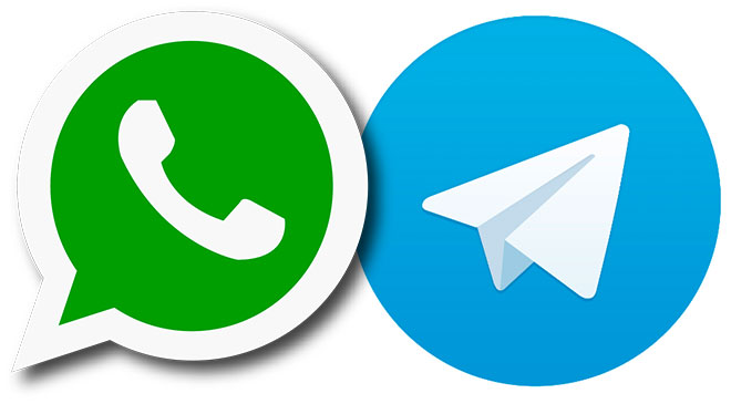 APP, WhatsApp, Telegram