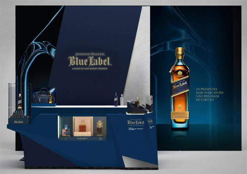 blue label pop store,shopping iguatemi são paulo, johnnie walker