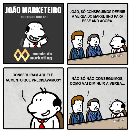 E a verba do Marketing?