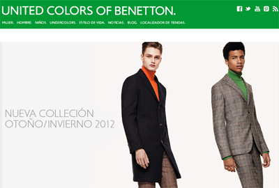 Benetton,e-commerce,site
