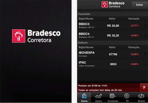 Home broker agora ipad