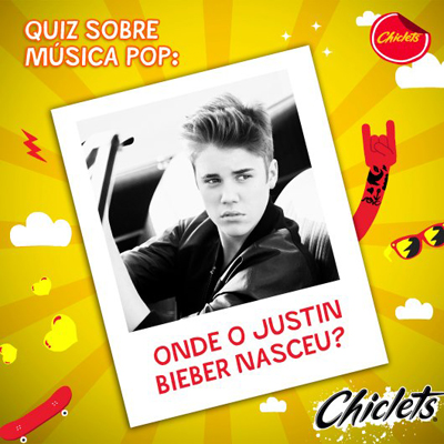 Chiclets,Justin Bieber,show,cantor,jovens,facebook
