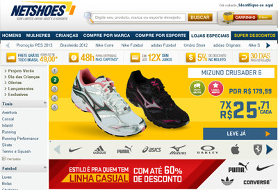 Netshoes,tablet,e-commerce,loja mobile