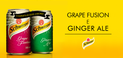 Schweppes,Ginger Ale,Grape fusion,sabores