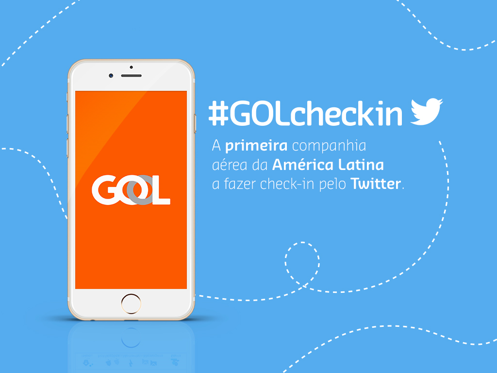 Gol, Twitter, Check-in, Plataforma