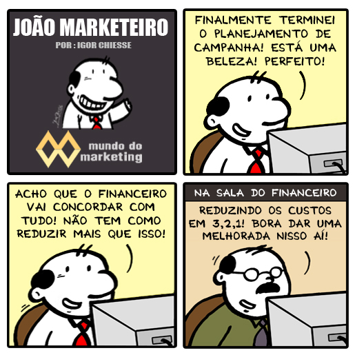Redução da verba de Marketing