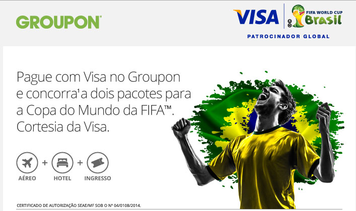 Copa do Mundo, Visa, Groupon