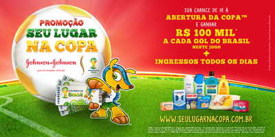 Johnson & Johnson,ingresso,copa do mundo,sorteio