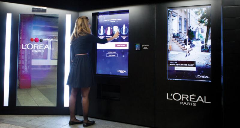 metrô,l´Oreal,vending machine,nova york